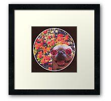 Happy Yin and Yang Pug  Framed Print