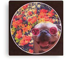 Happy Yin and Yang Pug  Canvas Print