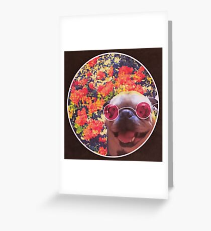 Happy Yin and Yang Pug  Greeting Card