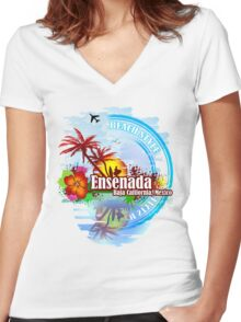 Ensenada Baja California Mexico Women's Fitted V-Neck T-Shirt