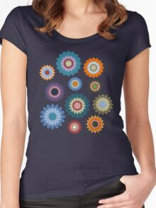 April Flowers Women's Fitted Scoop T-Shirt