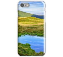 swamp on hill side in mountains iPhone Case/Skin