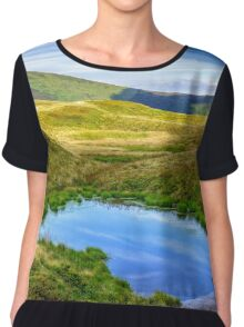 swamp on hill side in mountains Chiffon Top