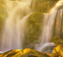 beautiful waterfall in sun rays Sticker