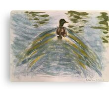 Duck on water-scroll down to view more of my work Canvas Print