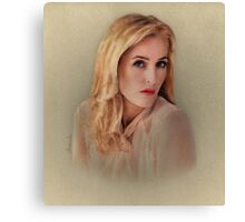 Gillian Anderson Painting  Canvas Print