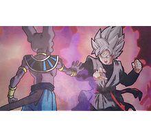 Black Goku VS Bills Sama - Dragon Ball Super Photographic Print