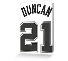 Tim Duncan Greeting Card