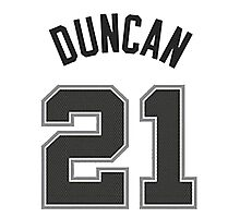 Tim Duncan Photographic Print