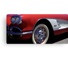 Fast Lines 1960 Classic Red Chevy Corvette Photo  Canvas Print