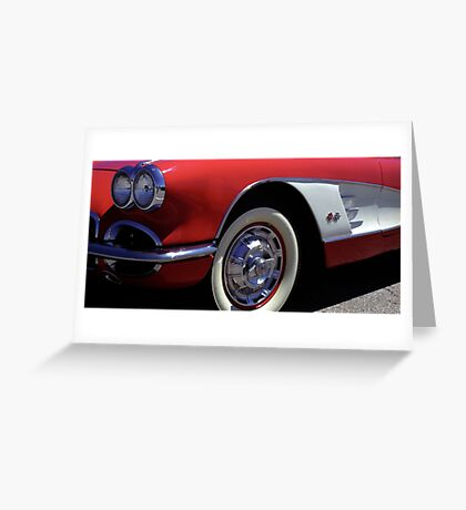 Fast Lines 1960 Classic Red Chevy Corvette Photo  Greeting Card