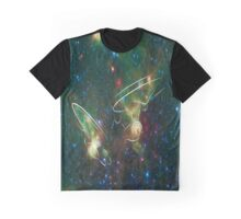 Enterprise Nebula With Outline of the Starships Graphic T-Shirt