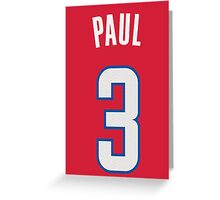 Chris Paul Greeting Card