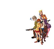 mystery inc scooby doo all team Photographic Print