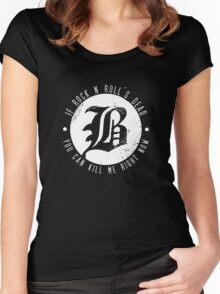 Beartooth Rock Is Dead Women's Fitted Scoop T-Shirt