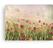 Field of Tulips- scroll down to view more of my work Canvas Print