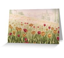 Field of Tulips- scroll down to view more of my work Greeting Card