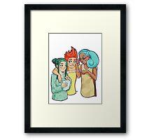 Poke-Girls Starters Framed Print