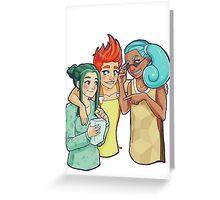 Poke-Girls Starters Greeting Card