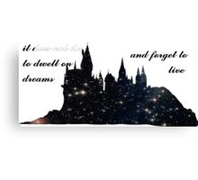 'It Does not do to Dwell on Dreams and Forget to Live' Canvas Print
