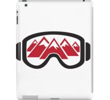 Reflected Mountains in Ski Goggles iPad Case/Skin