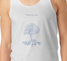 Find Your Roots - Blue & White Tank Top