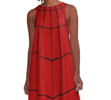 Spider Web - Red A-Line Dress