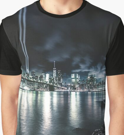 nyc skyline for 11 september Graphic T-Shirt