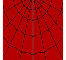 Spider Web - Red Photographic Print