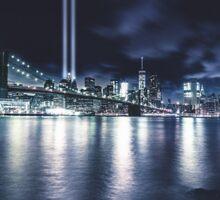 nyc skyline for 11 september Sticker