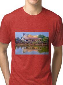 Mya Tha Lyaung Reclining Buddha, Bago Tri-blend T-Shirt