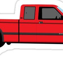 1992 Dodge Dakota - red Sticker