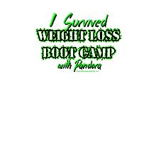 I survived Weight Loss Boot Camp Photographic Print