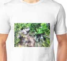 Dogs on path Unisex T-Shirt