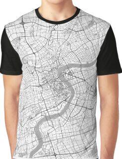 Shanghai Map Line Graphic T-Shirt