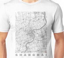 Shanghai Map Line Unisex T-Shirt