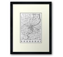 Shanghai Map Line Framed Print