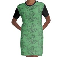 Sloths Graphic T-Shirt Dress