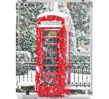 Phone Booth in Winter iPad Case/Skin