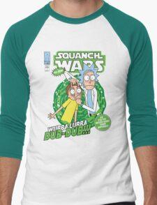 Squanch Wars Men's Baseball ¾ T-Shirt
