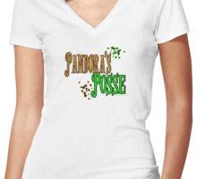 Pandora's Posse Women's Fitted V-Neck T-Shirt