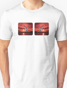 Sunrise Seagull. Mugs Gifts and Clothes Unisex T-Shirt