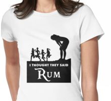 Rum - Girl Womens Fitted T-Shirt