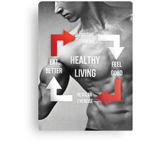 Healthy Living Infographic Metal Print