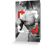 Healthy Living Infographic Greeting Card