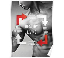 Healthy Living Infographic Poster