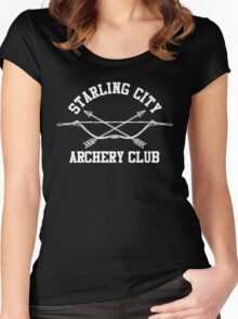 Starling City Archery Club – Arrow, Ollie Queen Women's Fitted Scoop T-Shirt