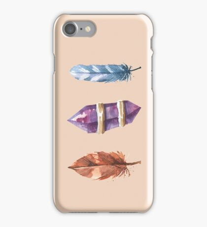 Crystal and Feathers iPhone Case/Skin