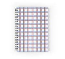 Serene Rose Plaid  Spiral Notebook