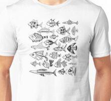 Black Inked Fish Unisex T-Shirt